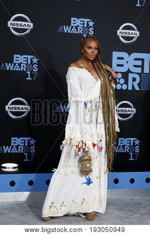 LOS ANGELES - JUN 25:  Eva Marcille at the BET Awards 2017 at the Microsoft Theater on June 25, 2017 in Los Angeles, CA