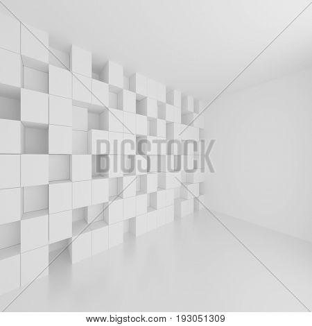 Modern Architecture Background. Creative Interior Design. 3d Rendering
