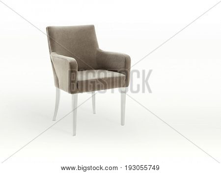 Modern chair on white background, Clipping path included