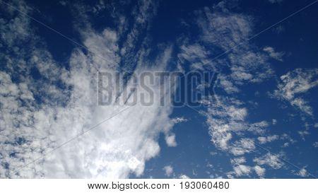 Nuvem contraste céu azul do Ceará Brasil