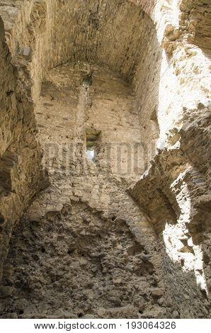Ruin of Medieval Byzantine fortress Bukelonvillage Matochina Bulgaria Europe