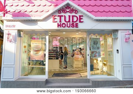 SEOUL, SOUTH KOREA - CIRCA MAY, 2017: Etude House store in Seoul.