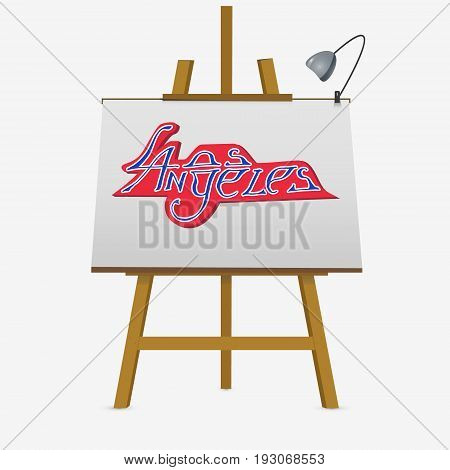 Lettering Los Angeles