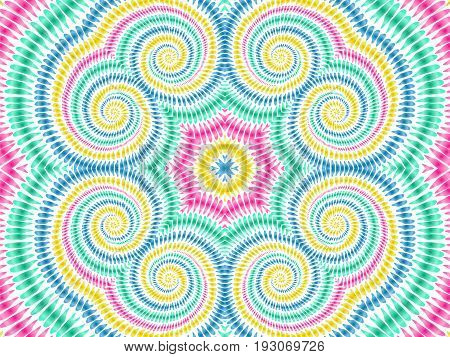 Tie Dye Background Boho Hippie Vector Shibori Colorful Texture 3