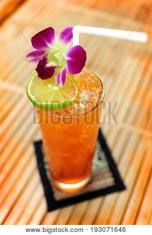 Ice Lemon Tea Thai Style