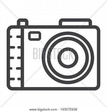 Camera line icon, photo and capture, vector graphics, a linear pattern on a white background, eps 10.