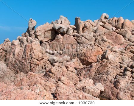 Strange Rocky Cliff