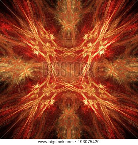 fiery star pattern, abstract art for background