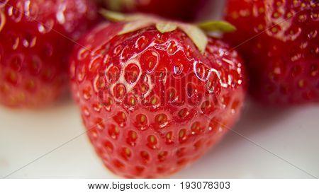 Strawberry close-up plan watch texture FULL prewiew