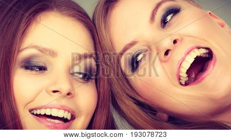 Lovely Playful Sisters Women Portrait.