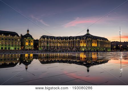 Place de la Bourse in Bordeaux south west Fran