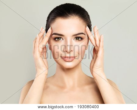 Perfect Model Woman with Healthy Skin. Spa Beauty Facial Treatment and Cosmetology Concept