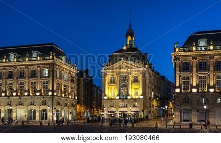 Place de la Bourse in Bordeaux south west France