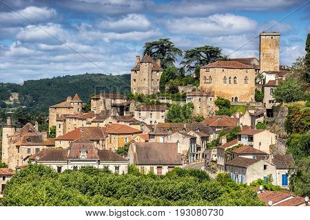 Puy L Eveque on the river Lot in the Lot Valley in south west France