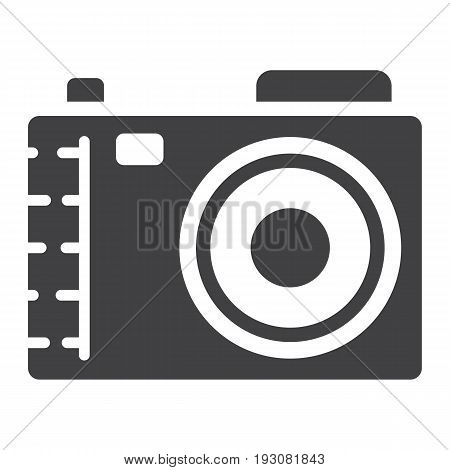 Camera solid icon, photo and capture, vector graphics, a glyph pattern on a white background, eps 10.