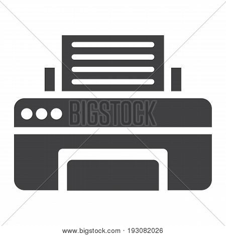 Printer solid icon, fax and office, vector graphics, a glyph pattern on a white background, eps 10.