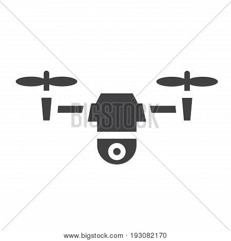 Drone solid icon, fly and copter, vector graphics, a glyph pattern on a white background, eps 10.