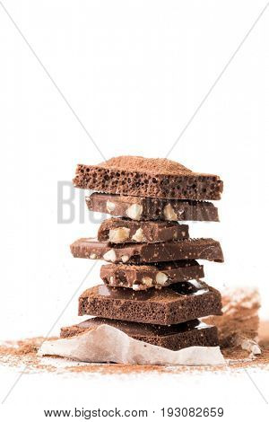 Milk chocolate, porous, with nuts