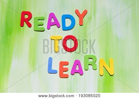 Colorful Letters, Text Ready To Learn