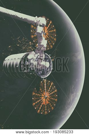 The Cygnus Spacecraft In Open Space.