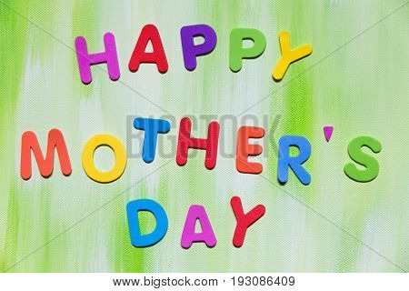 Colorful Letters, Happy Mother´s Day
