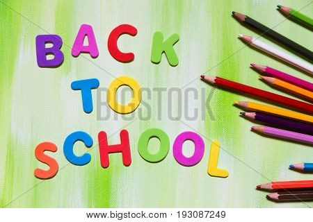 Colorful Letters And Pencils, Back To School