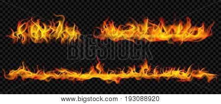 Long Horizontal Fire Flame