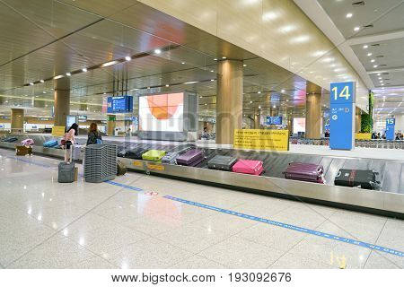 INCHEON, SOUTH KOREA - CIRCA MAY, 2017: baggage claim area at Incheon International Airport.