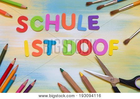 Colorful Letters, German Text, Concept School And Education