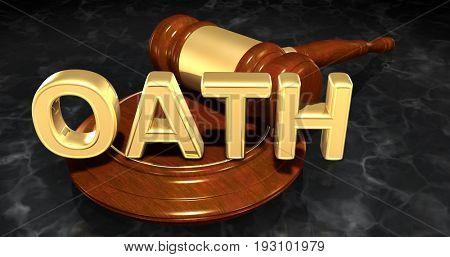 Oath Law Concept 3D Illustration