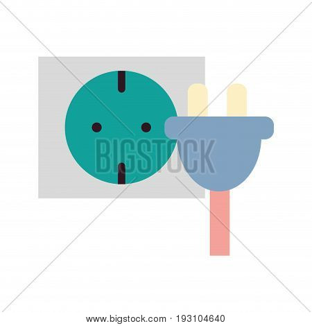 power cable to electronic connect energy vector illustration