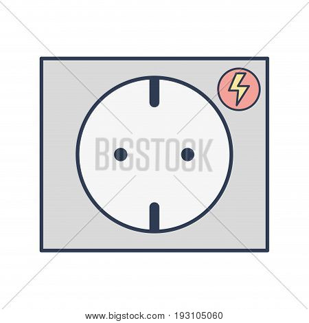 outlet energy to technology electrical industry vector illustration