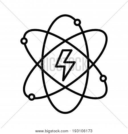 line energy hazard symbol of power industry with orbits vector illustration