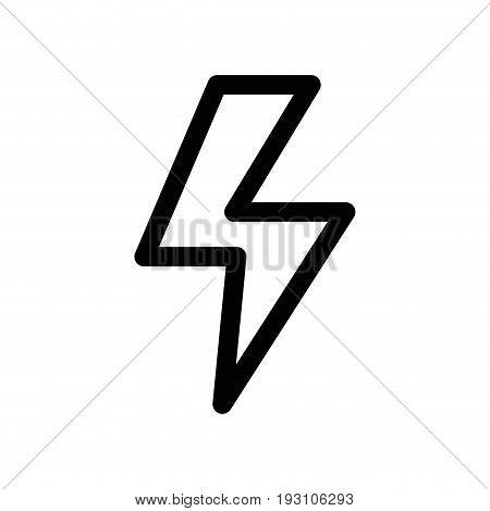 line dangerous energy hazard symbol to security industry vector illustration