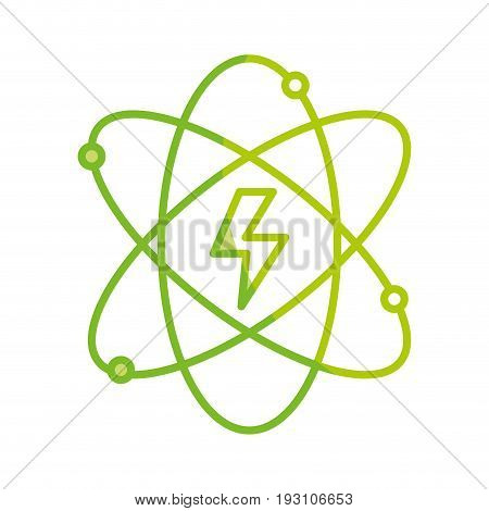 silhouette energy hazard symbol of power industry with orbits vector illustration