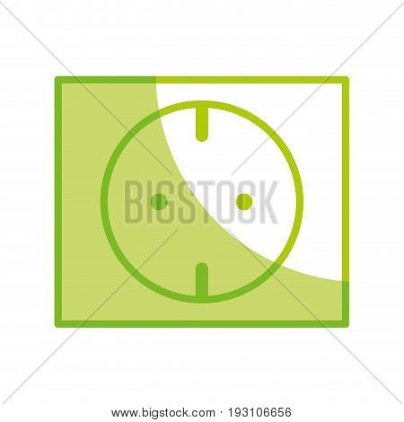 silhouette outlet energy to technology electrical industry vector illustration