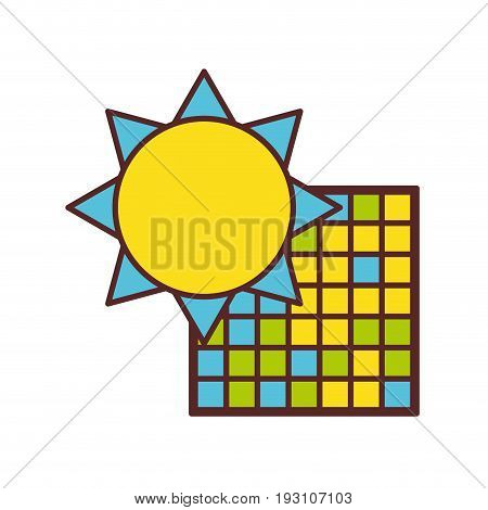 solar energy to reuse and environment care vector illustration