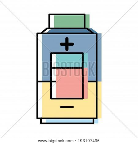 technology battery power low with digital indicador vector illustration