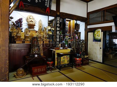 Interior Of Shinto Shrine In Akita, Japan