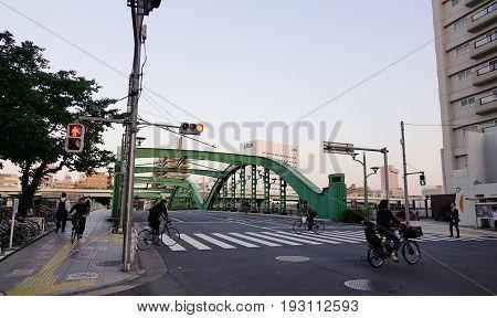 View Of Street In Tokyo, Japan