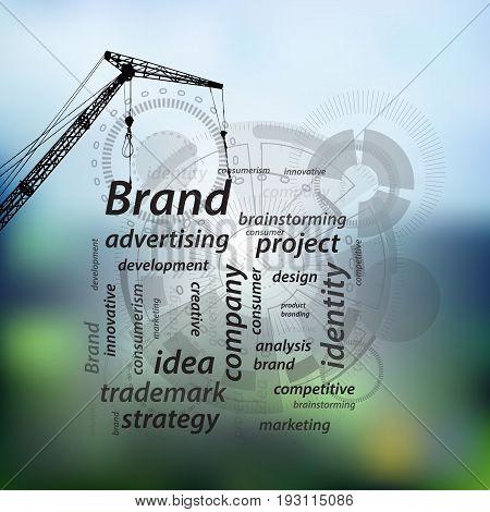 Brand Concept. Building Action Plan. Inscriptions