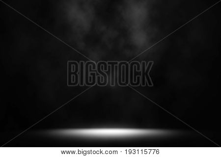 White color spotlight smoke studio background, Spotlight white.