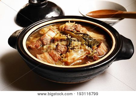 mixed vegetable stew,thai-chinese vegetable stew nutritionally delicious menu, thai people know as Tom Jub Chai