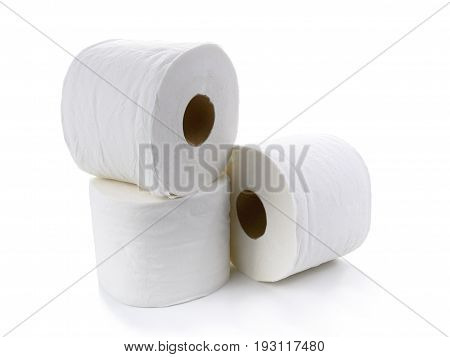 Toilet paper-Tissue paper roll isolated on white background