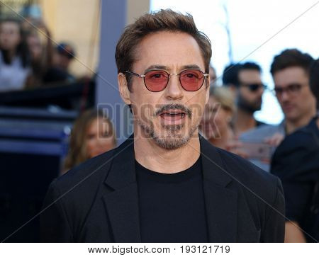 Robert Downey Jr. at the World premiere of 'Spider-Man: Homecoming' held at the TCL Chinese Theatre in Hollywood, USA on June 28, 2017.