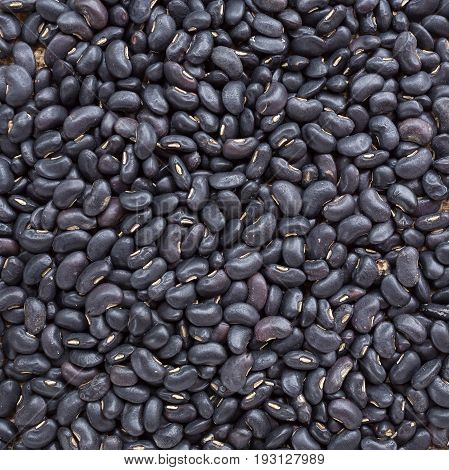 Top View Of Black Bean Background, Prepared Black Bean For Cooking