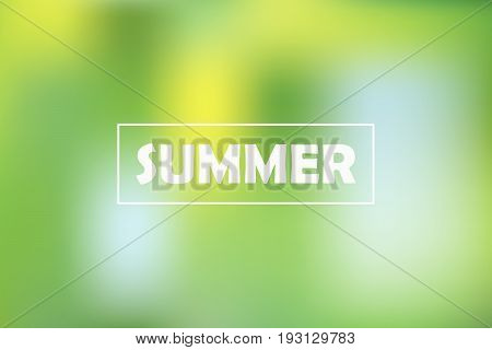 Summer time. Gradient blur background, abstract soft blurred texture of nature colors