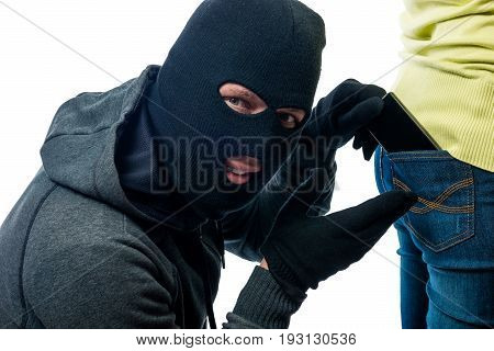 Stealing Phone From The Back Pocket Jeans In The Mask