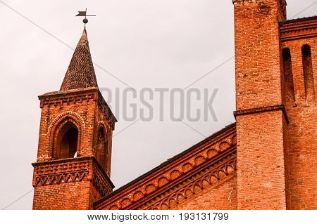 Typical Gothic Belfry Church Tower
