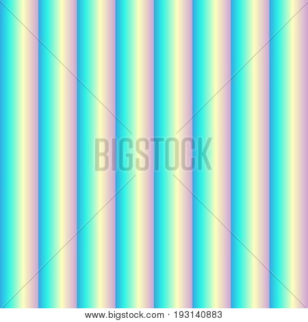 Seamless pattern of glass convex stripes, volumetric checkers, glass blocks. Cellular polycarbonate. Holographic effect. Vector illustration